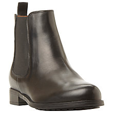Buy Dune Parrys Block Heeled Chelsea Boots,  Black Leather Online at johnlewis.com