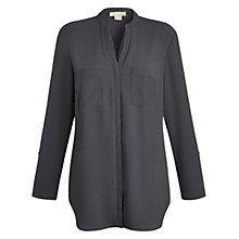 Buy Celuu Georgia Roll Sleeve Blouse, Grey Online at johnlewis.com