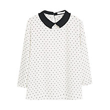 Buy Mango Pleated Neck Blouse Online at johnlewis.com
