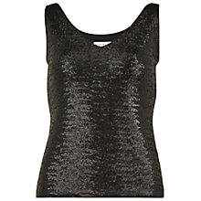Buy Gina Bacconi Jersey And Sequin Top, Black Online at johnlewis.com