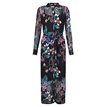Buy East Wednesday Print Shirt Dress, Black Online at johnlewis.com
