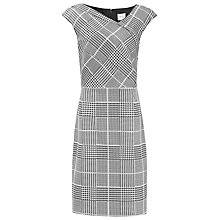 Buy Reiss Rogue Check Tailored Dress, Black/Off White Online at johnlewis.com