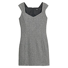Buy Mango Fitted Dress, Black Online at johnlewis.com