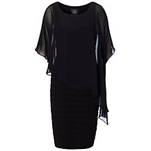 Buy Adrianna Papell Chiffon Drape Overlay Dress, Black Online at johnlewis.com