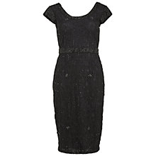 Buy Gina Bacconi Beaded Lace Cocktail Dress, Black Online at johnlewis.com