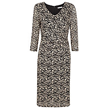 Buy Kaliko Contrast Lace Jersey Dress, Black Online at johnlewis.com