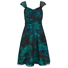 Buy Kaliko Winter Floral Organza Prom Dress, Dark Green Online at johnlewis.com