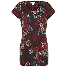 Buy Celuu April Rose Print Top, Red Online at johnlewis.com