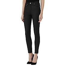Buy Reiss Helvin Coated High Rise Skinny Jeans, Black Online at johnlewis.com