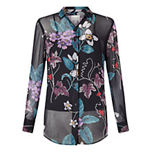Buy East Wednesday Print Shirt, Black Online at johnlewis.com