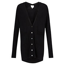 Buy East Merino Oversized Cardigan, Black Online at johnlewis.com