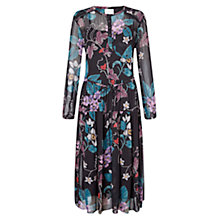 Buy East Wednesday Print Midi Dress, Black Online at johnlewis.com
