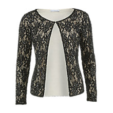 Buy Gina Bacconi Round Neck Beaded Lace Jacket, Black Online at johnlewis.com