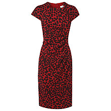 Buy L.K. Bennett Marin Printed Dress, Cranberry Online at johnlewis.com