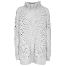 Buy Reiss Fanella Cape Knit, Grey Melange Online at johnlewis.com
