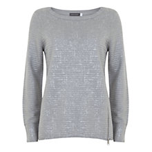 Buy Mint Velvet Foil Cocoon Knit, Grey Online at johnlewis.com