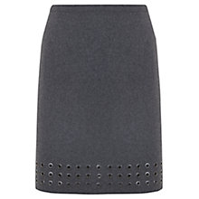 Buy Mint Velvet Eyelet Skirt, Grey Online at johnlewis.com