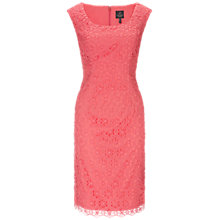 Buy Adrianna Papell Floral Open Lace Sheath Dress, French Coral Online at johnlewis.com