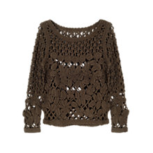 Buy East Hand Crochet Top, Khaki Online at johnlewis.com