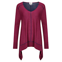 Buy East Oversized Merino Jumper, Magenta Online at johnlewis.com