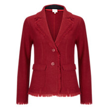 Buy East Fringe Felted Wool Blazer, Dark Red Online at johnlewis.com
