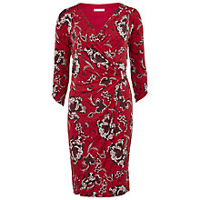 Buy Gina Bacconi Jersey Floral Wrap Dress, Dark Red Online at johnlewis.com