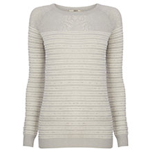 Buy Oasis Diamond Sparkle Stripe Jumper, Multi Grey Online at johnlewis.com