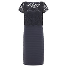 Buy Mint Velvet Lace Bandage Dress, Grey Online at johnlewis.com