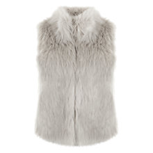 Buy Mint Velvet Textured Faux Fur Gilet, Grey Online at johnlewis.com