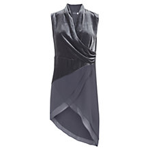 Buy Mint Velvet Smoke Velvet Tunic Dress, Grey Online at johnlewis.com