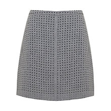 Buy Mint Velvet Laser Cut A-Line Skirt, Grey Online at johnlewis.com
