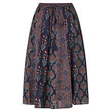 Buy East Salma Print Skirt, Indigo Online at johnlewis.com