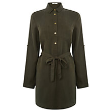 Buy Oasis Lucy Shirt Dress, Khaki Online at johnlewis.com