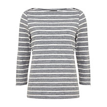 Buy Mint Velvet Stripe T-Shirt, Granite Online at johnlewis.com