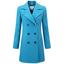Buy Pure Collection Kensington Pea Coat, True Blue Online at johnlewis.com