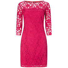 Buy Adrianna Papell Flounce Sleeve Shift Dress, Rhubarb Online at johnlewis.com