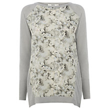 Buy Oasis Floral Sparkle Jumper, Silver Online at johnlewis.com