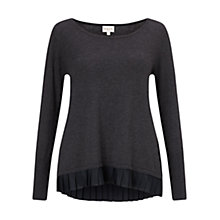 Buy East Pleat Back Jumper, Slate Online at johnlewis.com