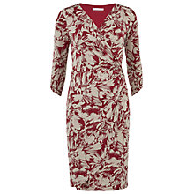 Buy Gina Bacconi Jersey Wrap Dress, Wine/Beige Online at johnlewis.com