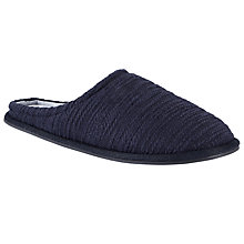 Buy Kin by John Lewis Textured Knit Mule Slippers, Navy Online at johnlewis.com