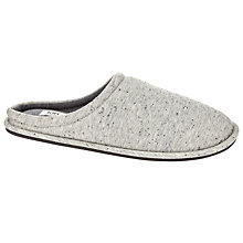 Buy Kin by John Lewis Cotton Fleck Slippers, Grey Online at johnlewis.com