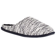 Buy Kin by John Lewis Textured Knit Mule Slippers, Grey Online at johnlewis.com