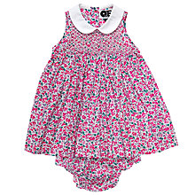 Buy Question Everything Baby Clara Floral Dress and Knickers, Pink Online at johnlewis.com