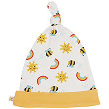 Buy Frugi Organic Baby Rainbow Knotted Hat, Yellow Online at johnlewis.com