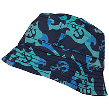 Buy Frugi Organic Toby Wave Camo Hat, Blue/Green Online at johnlewis.com