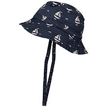 Buy Frugi Organic Baby Toby Anchor Hat, Navy Online at johnlewis.com