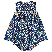 Buy Question Everything Baby Delilah Daisy Dress and Knickers, Navy/White Online at johnlewis.com
