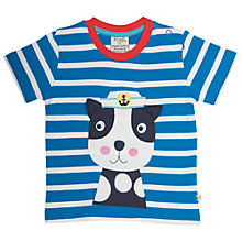 Buy Frugi Organic Baby Sea Dog T-Shirt, Blue/Multi Online at johnlewis.com