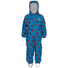 Buy Frugi Organic Children's Puddle Buster Tractor Waterproof Suit, Blue/Red Online at johnlewis.com