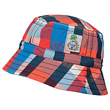 Buy Frugi Organic Children's Dexter Check Print Hat, Multi Online at johnlewis.com